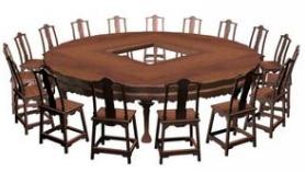 实木餐桌20人